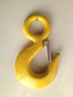 eye hoist hook yellow alloy new