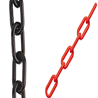 red and black chain